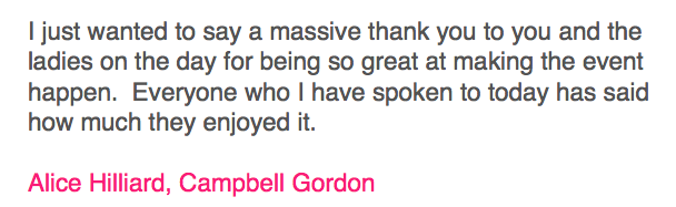 Campbell Gordon Testimonial